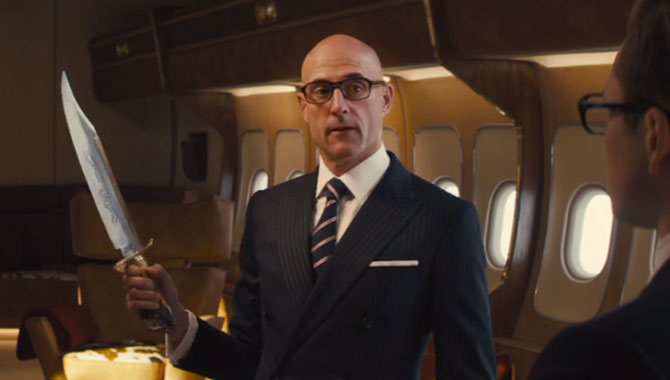 Mark Strong is back as Eggsy's trainer Merlin