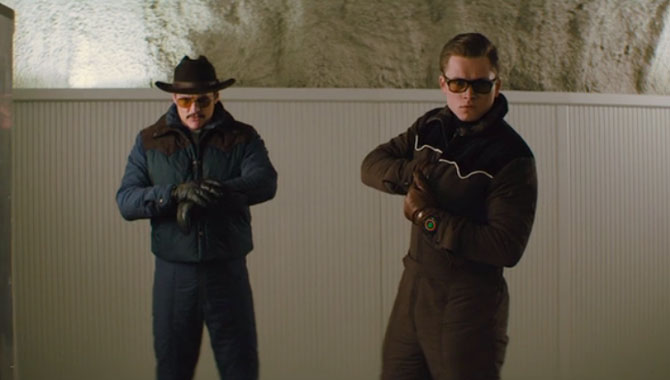 Eggsy teams up with American spy Agent Whiskey
