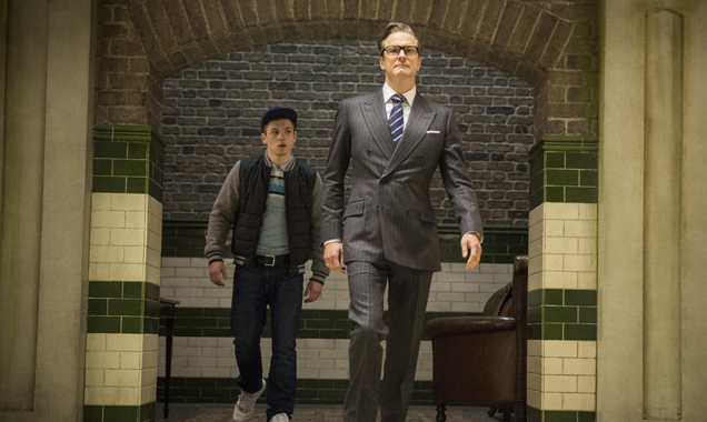 Taron Egerton and Colin Firth in 'Kingsman: The Secret Service'