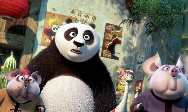 Po finally finds a place where he's not the odd one out in Kung Fu Panda 3