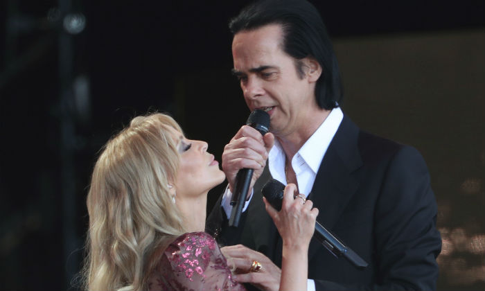 Kylie and Nick Cave at Glastonbury 2019 / Photo Credit: Yui Mok/PA Wire/PA Images