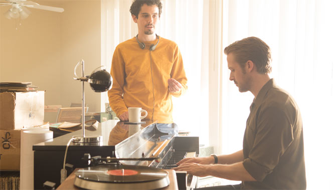 Ryan Gosling with director Damien Chazelle