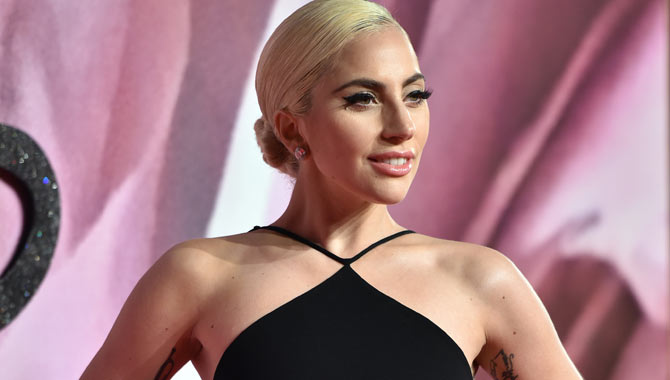 Lady Gaga on the red carpet at the 2016 Fashion Awards