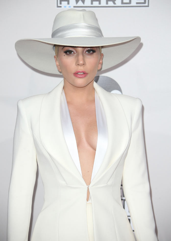 Lady Gaga seen at the 2014 AMA's