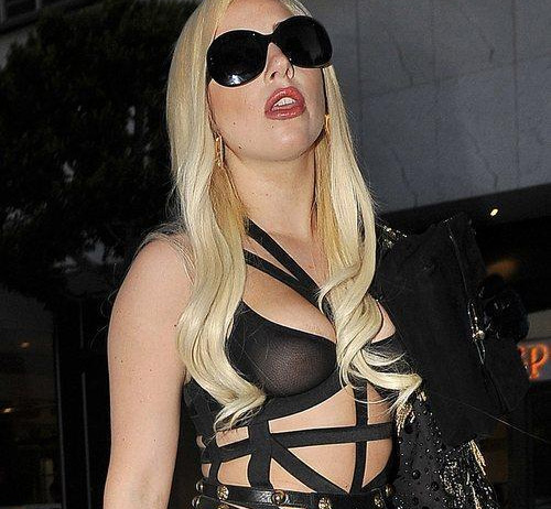 Lady Gaga leaving Chateau Marmont Los Angeles, California