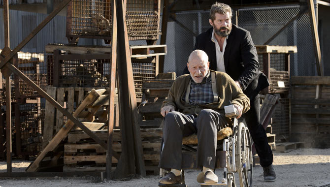 Patrick Stewart and Hugh Jackman reprised their 'X-Men' roles for 'Logan'