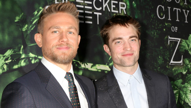 Charlie Hunnam and Robert Pattinson re-unite on the red carpet