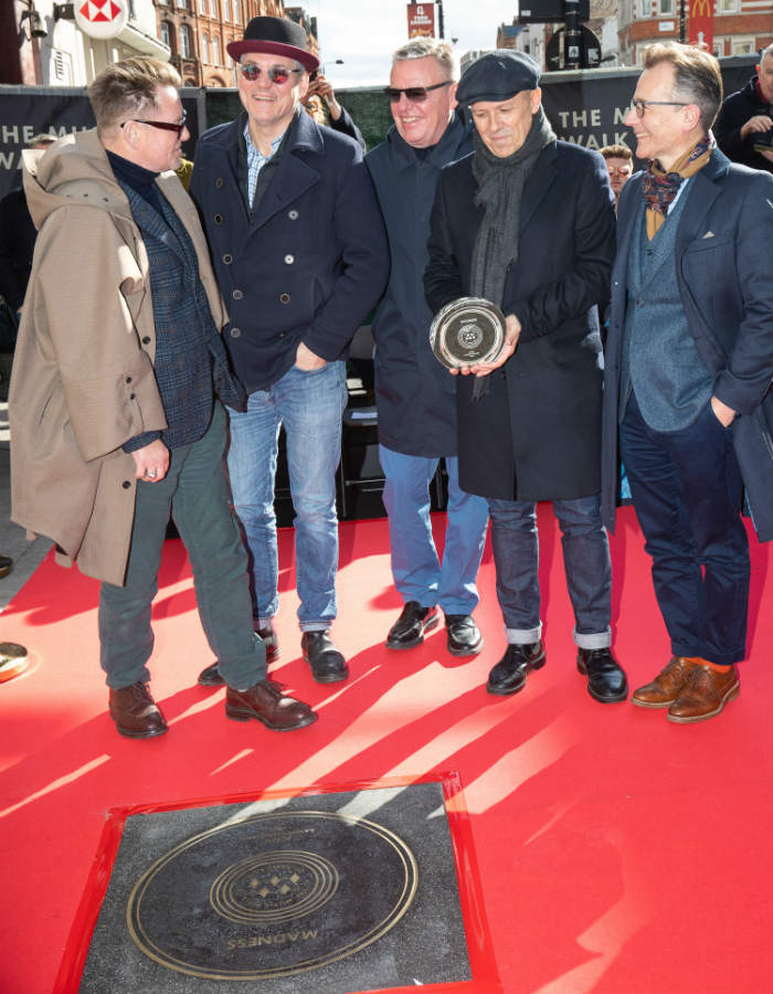Madness honoured on the Music Walk of Fame / Photo Credit: Aaron Chown/PA Wire/PA Images