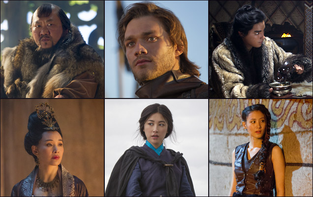 Benedict Wong, Lorenzo Richelmy, Zhu Zhu and others in 'Marco Polo'