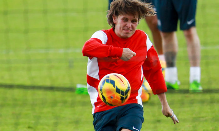 Mark Owen at Soccer Aid 2014 training