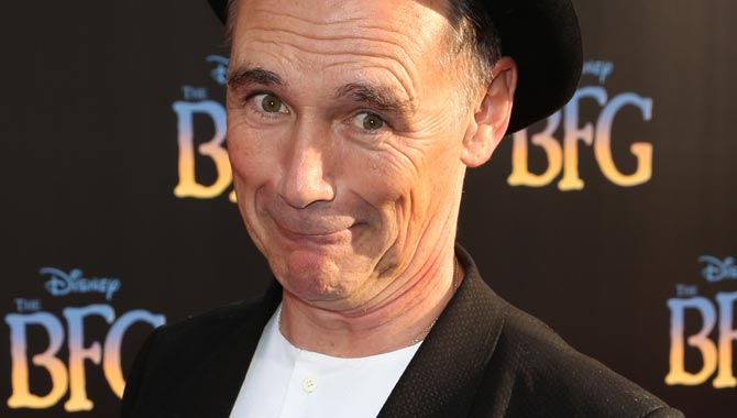 Mark Rylance at the premiere for The BFG