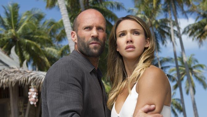 Jason Statham and Jessica Alba