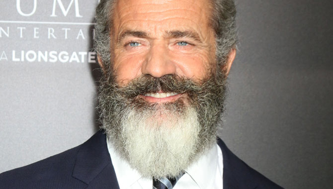 Mel Gibson at the premiere for Hacksaw Ridge