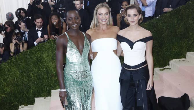 Lupita Nyong'o, Margot Robbie and Emma Watson