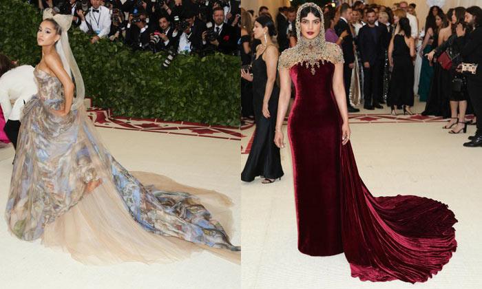 Ariana Grande and Priyanka Chopra - Met Gala 2018