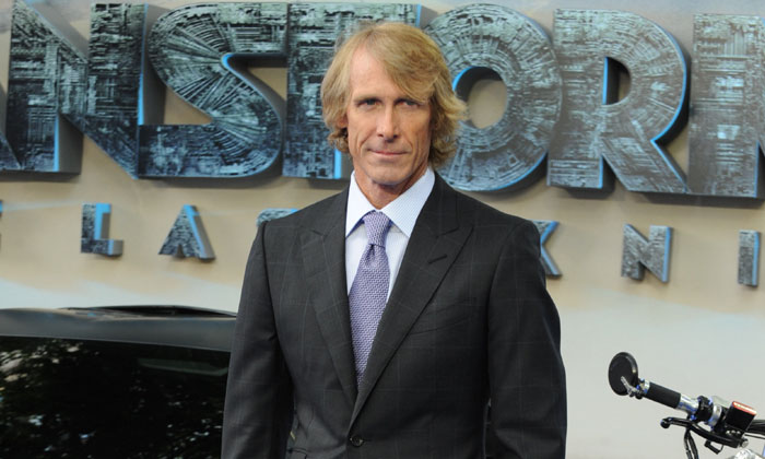 Michael Bay at the premiere of Transformers: The Last Knight