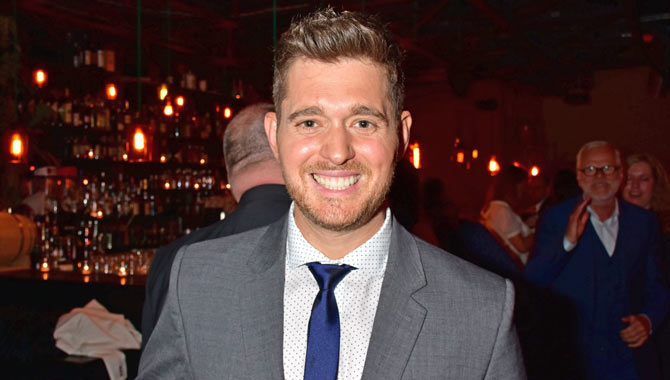 Even with facial hair, Buble is always well groomed