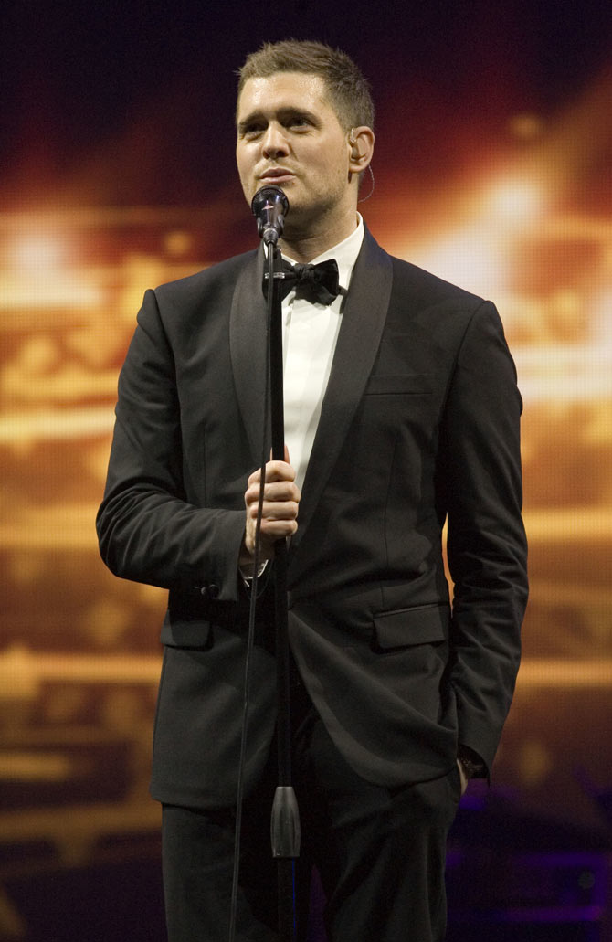 Michael Buble performing live at Glasgow's SECC