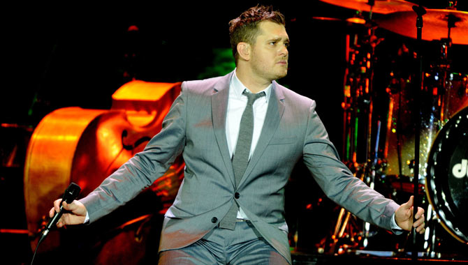 Michael Buble on stage in Rotterdam