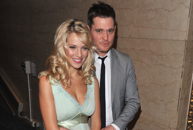 Michael seen with his beautiful wife Luisana Lopilato