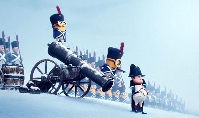 The Minions serving Napoleon