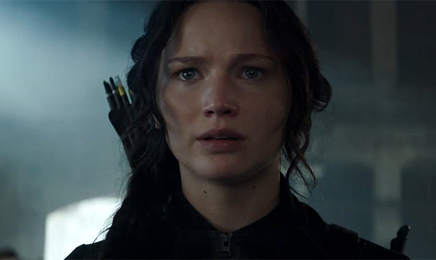Jennifer Lawrence in 'The Hunger Games: Mockingjay Part 1'