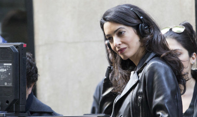 Amal Clooney on Money Monster set