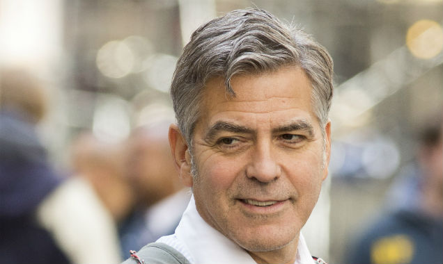 George Clooney on Money Monster set