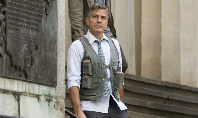 George Clooney on Money Monster set 2