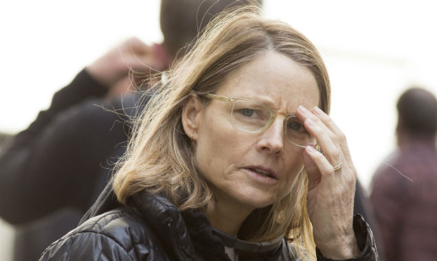 Jodie Foster on Money Monster set
