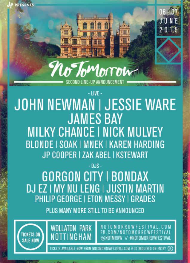 No Tomorrow Festival poster