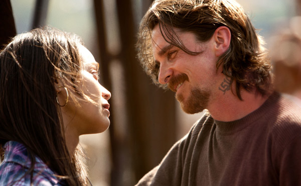 Zoe Saldana, Christian Bale, Out of the Furnace