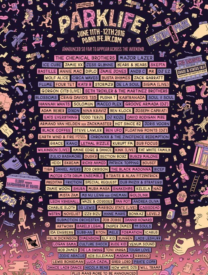 Parklife Announces Initial Acts For 2016