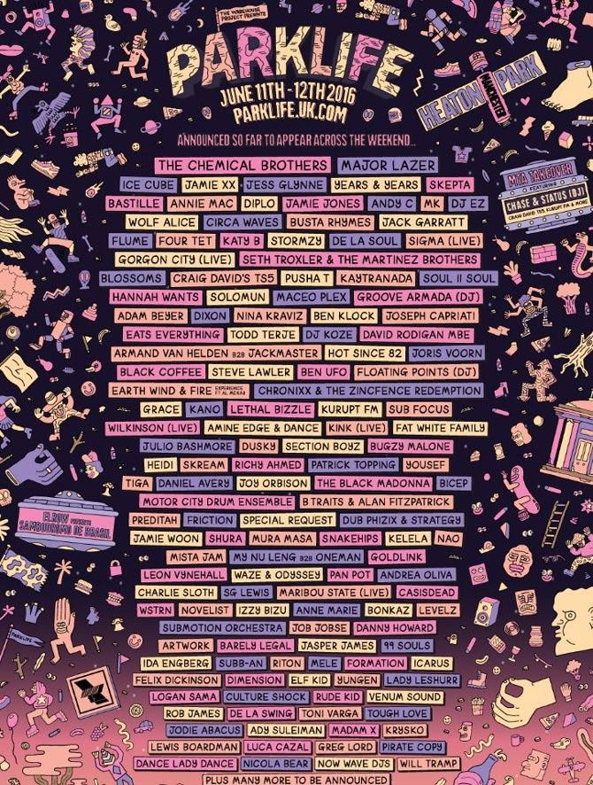 Parklife 2016 lineup so far