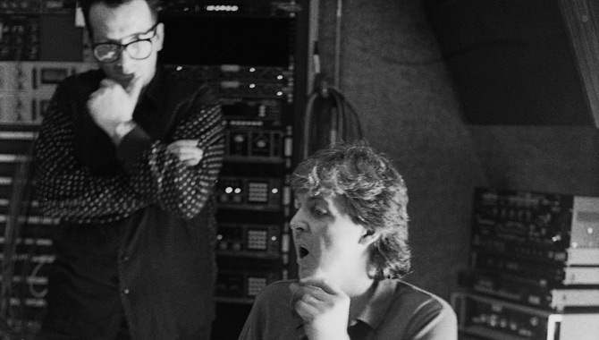 Nostalgic Studio Shots Unveiled Featuring Paul McCartney And Elvis Costello
