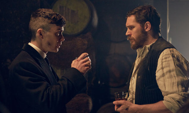 Cillian Murphy and Tom Hardy in Peaky Blinders Season 2