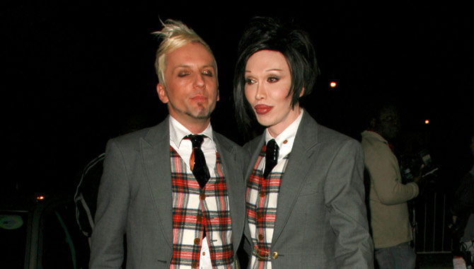Pete Burns and Michael Simpson