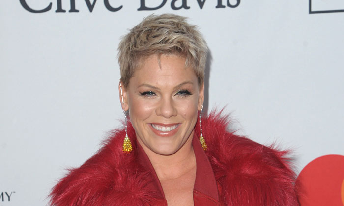Pink at the 2018 Clive Davis pre-Grammy gala