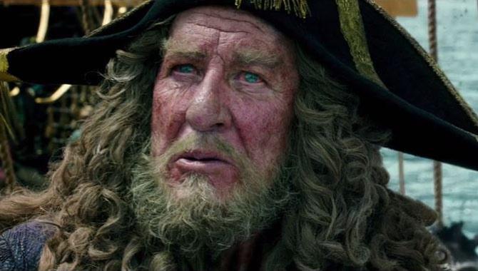 Geoffrey Rush stars as Captain Barbossa