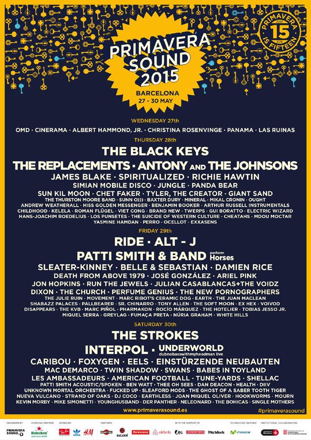Primavera Sound 2015 poster