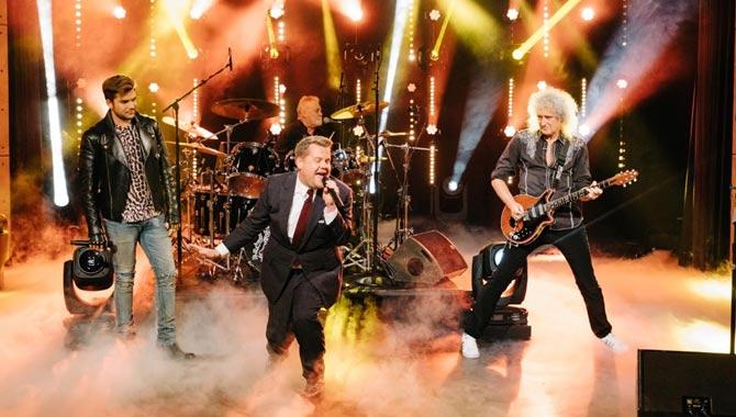 Queen + Adam Lambert, and James Corden