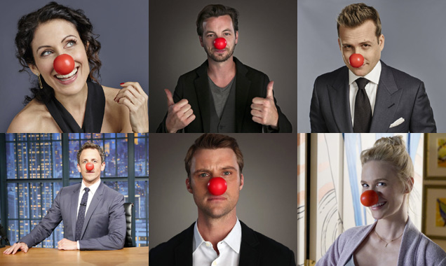 Seth Meyers, January Jones and others on Red Nose Day