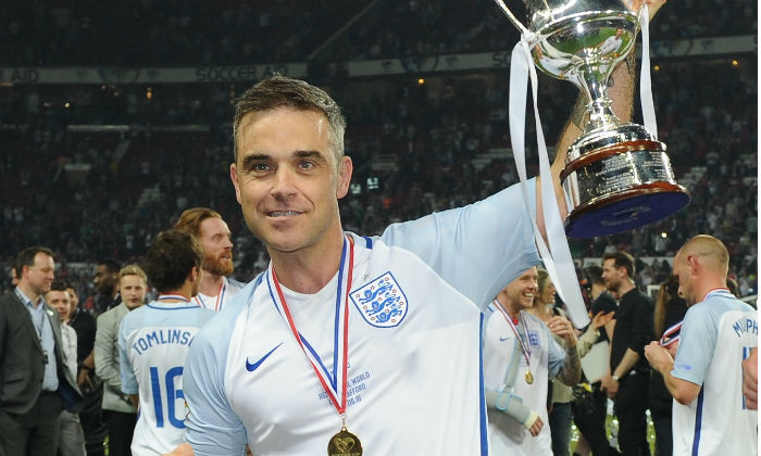 Robbie Williams at Soccer Aid 2016