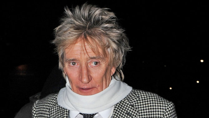 Rod Stewart arriving at Cirque du Soleil in 2016