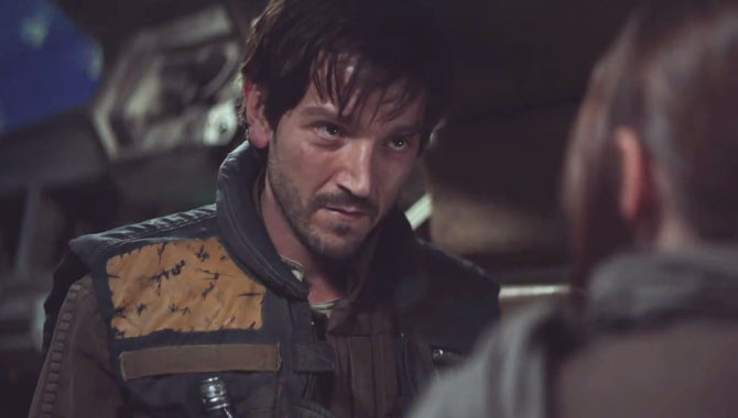 Diego Luna as Captain Cassian Andor in Star Wars Rogue One