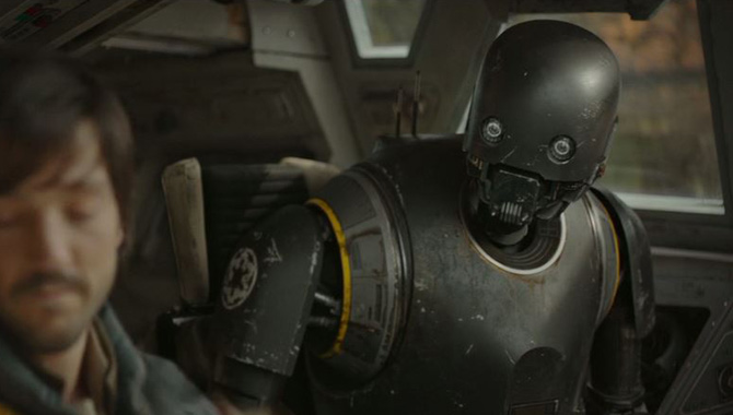 First Clips Of 'Rogue One: A Star Wars Story' Reveal K-2SO And Other Surprises