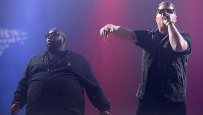 Run The Jewels performing at Leeds Festival in 2015