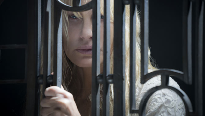 Daryl Hannah is also back in her mysterious role