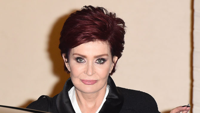Sharon Osbourne seen getting into her car