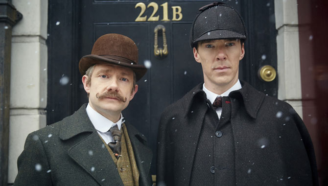 Martin Freeman and Benedict Cumberbatch in 'The Abominable Bride'